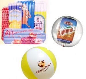 nafukovací matrace a míče na zakázku